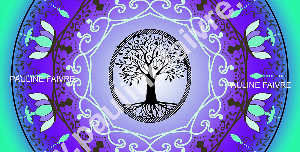 "Mandala thématique ""Arbre de Vie"""