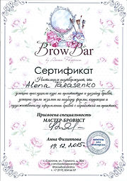 Certificate Brow artist