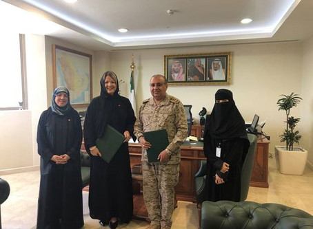 Saudi Arabian Ministry of Defense collaborating with the AHA to provide high-quality training for me