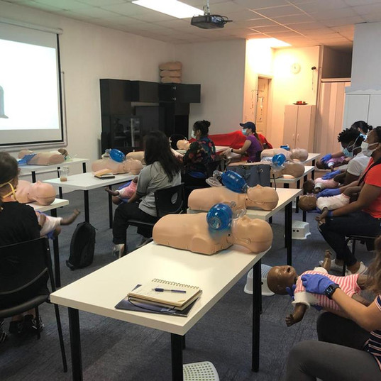 BLS and CPR training with  PPE's