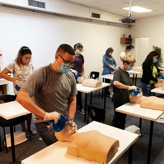 BLS/CPR with PPE's