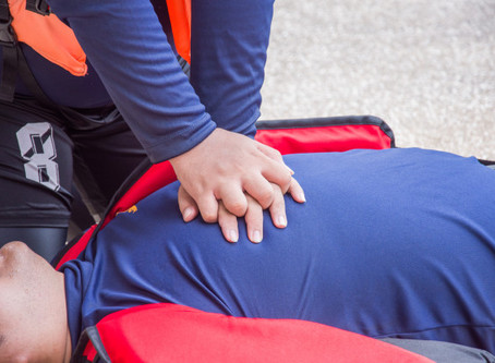 CPR First Aid | CPR trainer saved by CPR at American Heart Association office