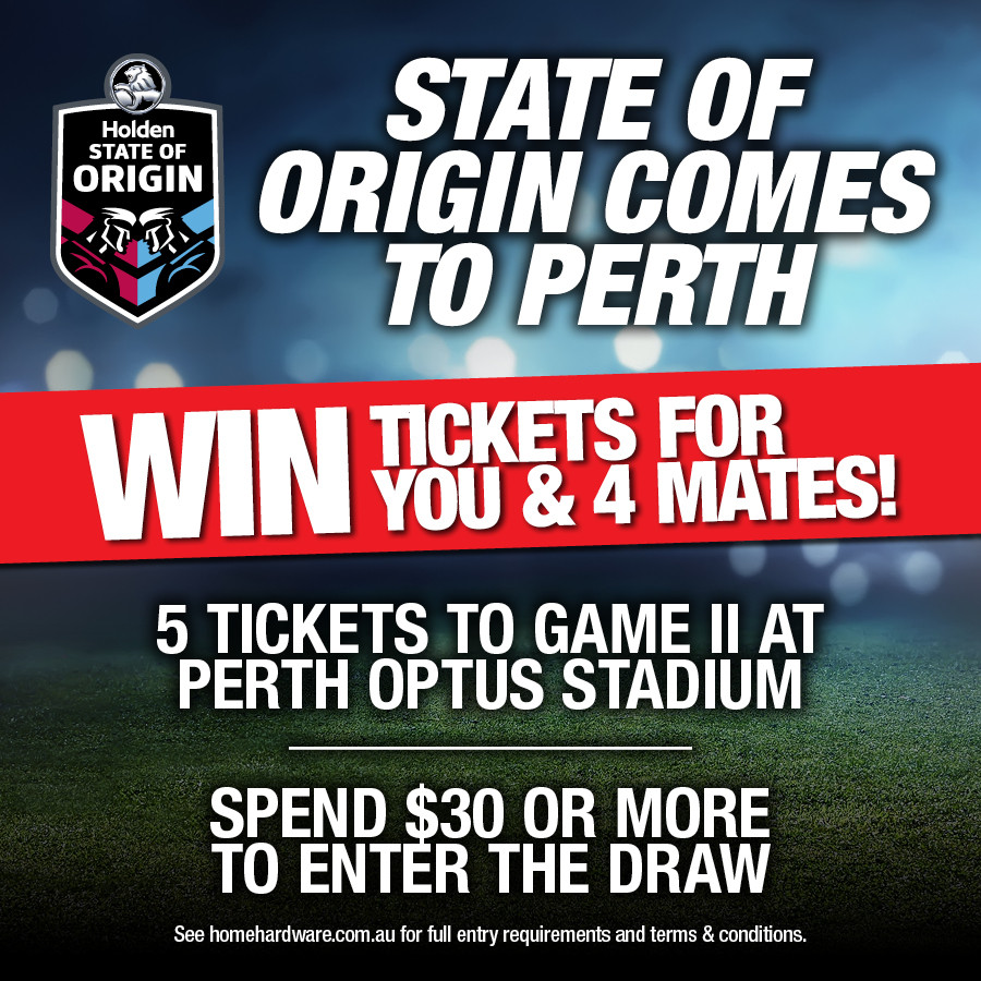 Win 5x Tickets to the Perth State of Origin Game