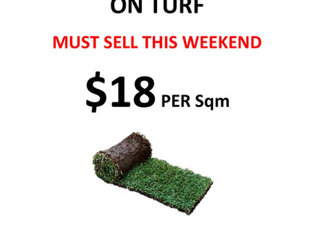 Cheap Roll On Turf - Must Sell This Weekend