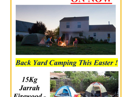 Backyard Camping this Easter