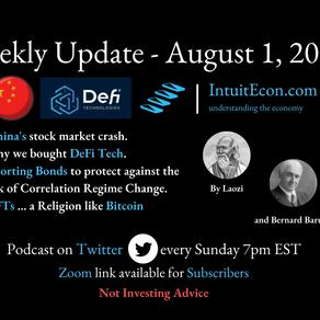 Weekly Update - 8/1/2021