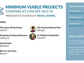 Minimum Viable Projects Demo Day Agenda