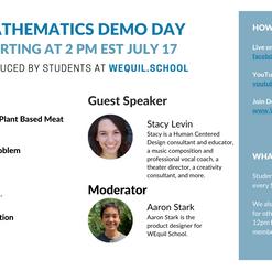 Mathematics Demo Day Agenda