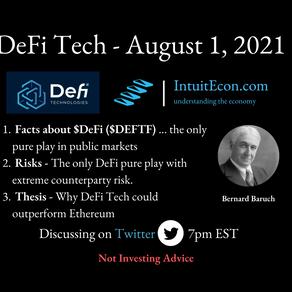 DeFi Technologies - 8/1/2021