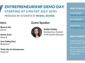 Entrepreneurship Demo Day Agenda