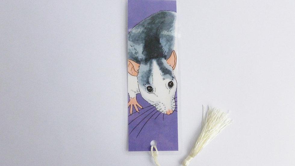 Roan Fancy Rat Bookmark