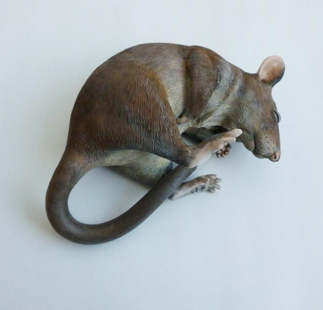 Gambian Pouched Rat Sculpture