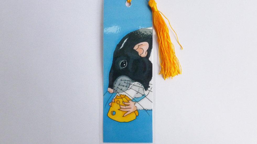 Black Capped Dumbo Fancy Rat Bookmark