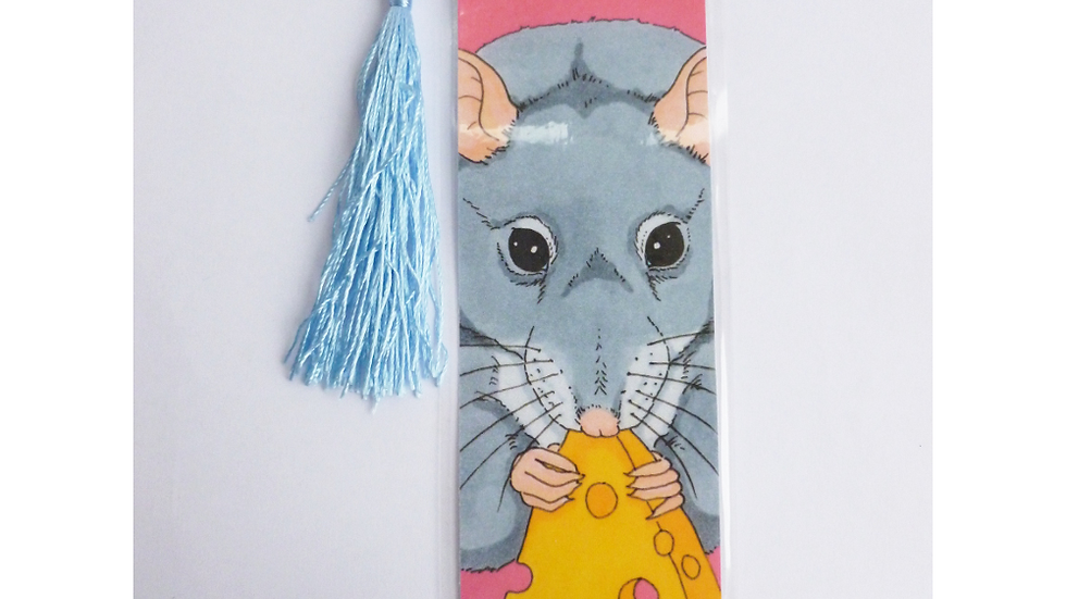 Blue Fancy Rat Bookmark