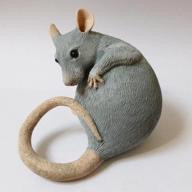 Blue Fancy Rat Sculpture