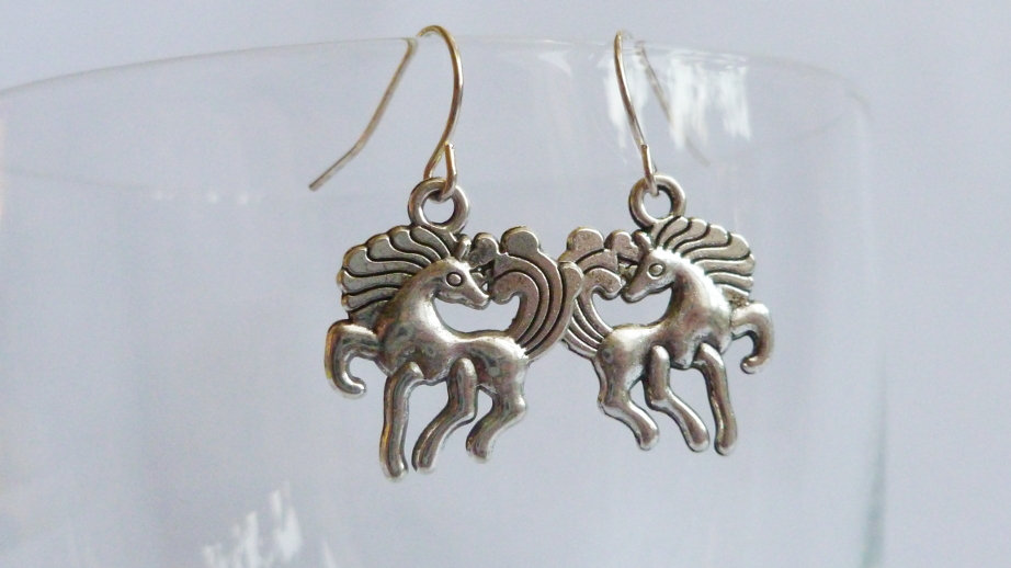 Pony Silver Coloured Earrings
