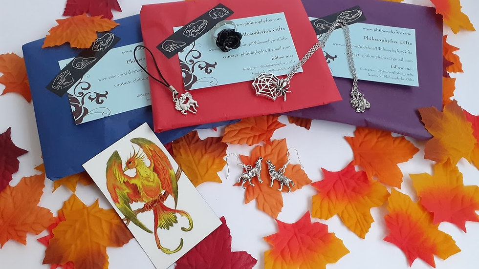 Autumn Mystery Packet: assorted jewellery