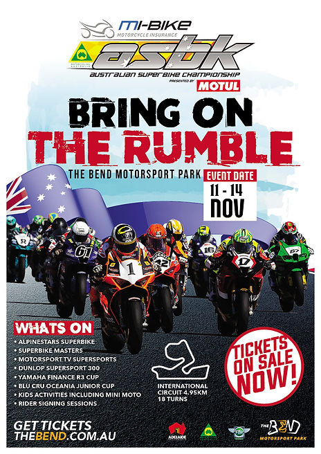A4 ASBK BRING ON THE RUMBLE THE BEND POSTER 20210811 new dates.jpg
