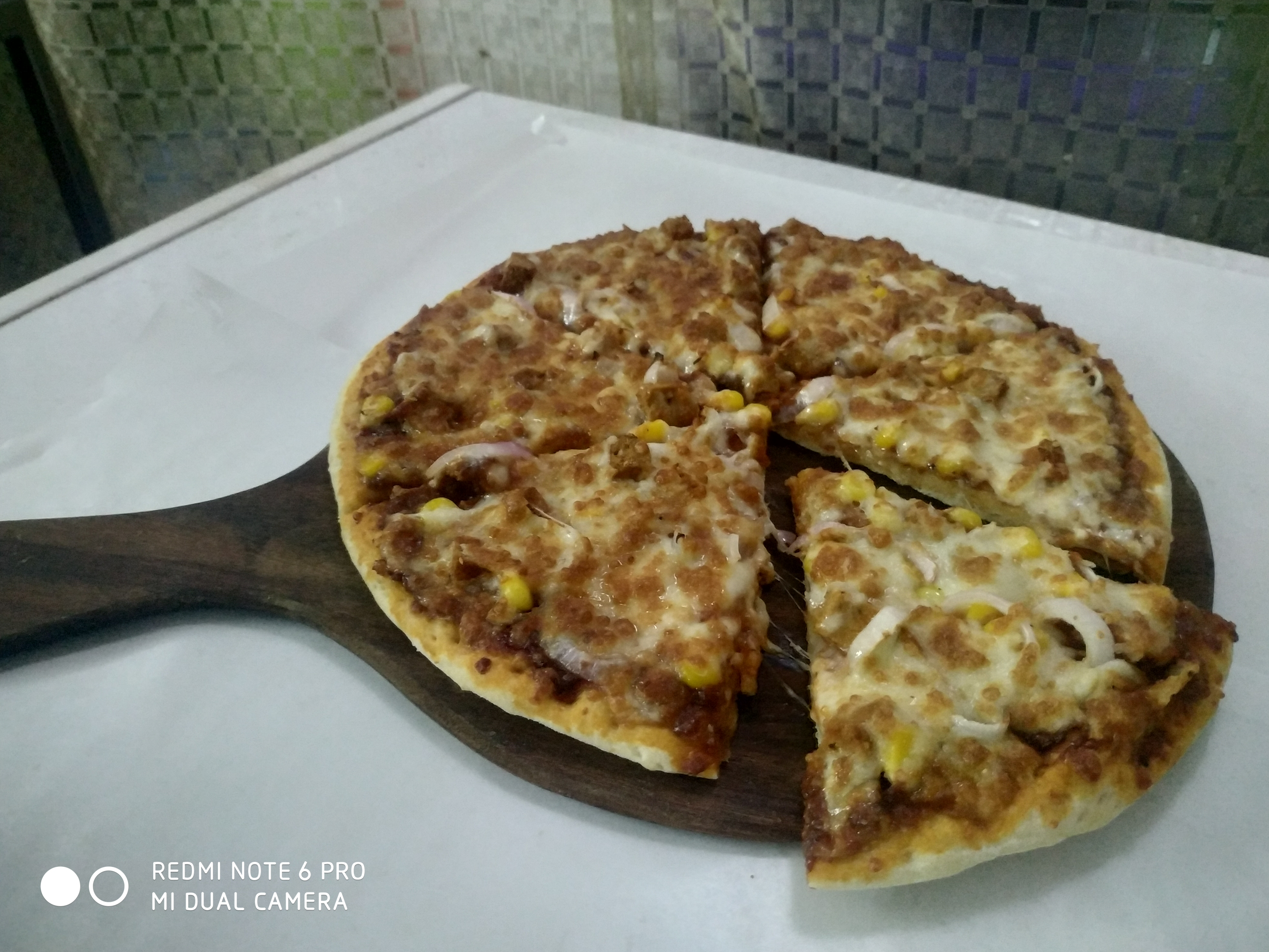 Spicy Indian Style Pizza