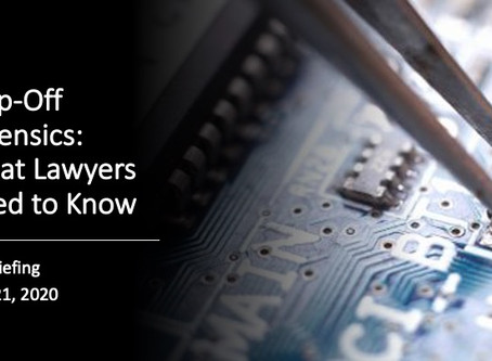 Chip-Off Forensics: What Lawyers Need to Know