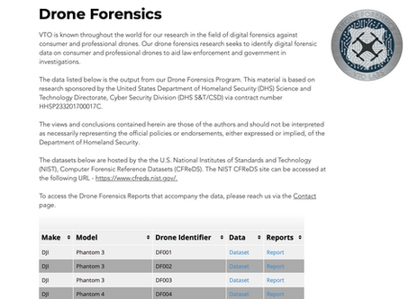 Back by Popular Demand - Our Drone Forensics page is back online