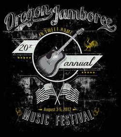 Oregon Jamboree Screen Print Design