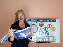 Sara McRae teaching Touch for Health