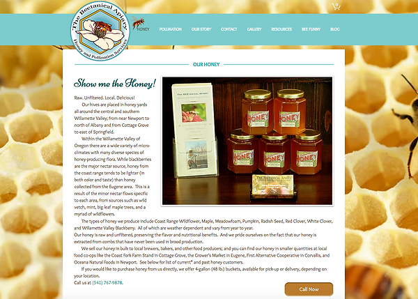 Beetanicl Apiary - website design