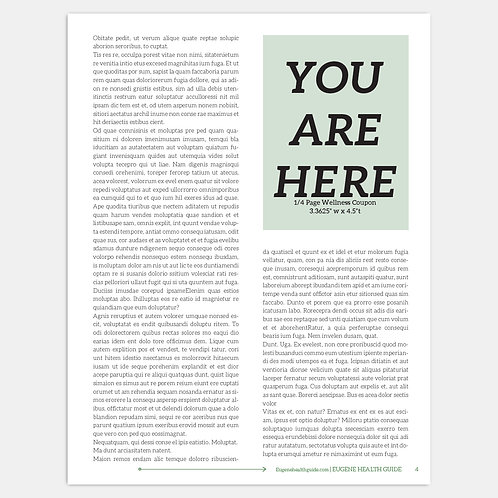 Eugene Health Guide 1/4 Page Wellness Coupon Display Ad