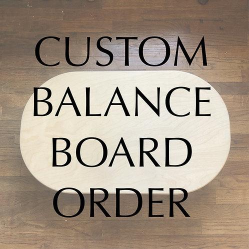 Custom Balance Board - Choose design from dropdown
