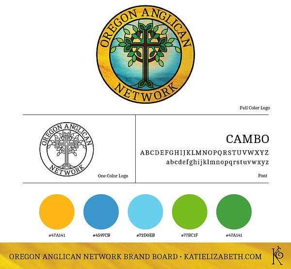 Oregon Anglican Network Brand Board