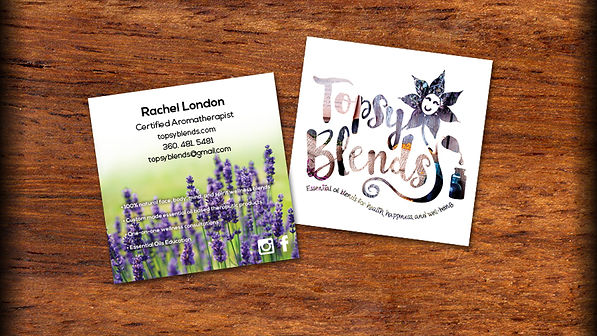 Topsy Blends Business Card Design