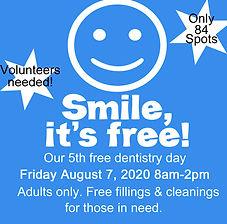 free dentistry day website reminder 2020