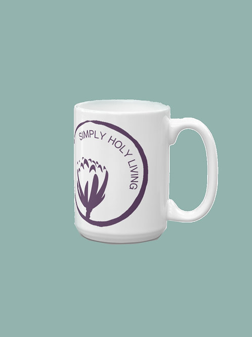 Simply Holy Mug Circular Logo and Text