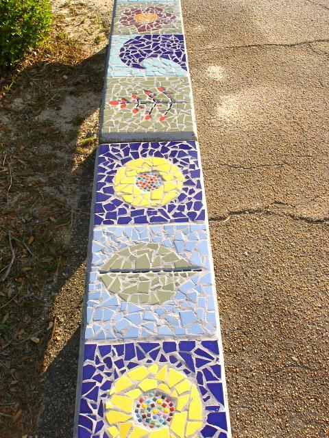 Helen Caro Elementary School Bench