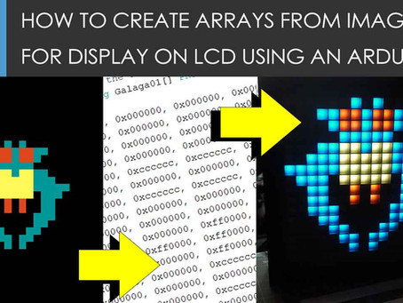 How to convert images to Arduino arrays values for use on displays