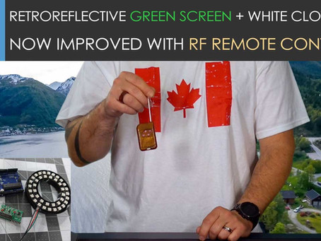 RetroReflective Green Screen Testing Update! Now with RF Remote Control!