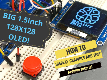 Finally a Bigger OLED display to use with an Arduino – 128×128 1.5 inch