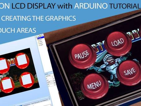 Using a Nextion LCD to create an Arcade control panel