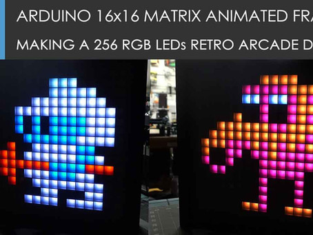 Making an Arduino animated frame with 256 RGB Leds!