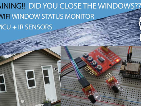 It's raining… Forgot to close the windows? NodeMCU WiFi windows monitor!