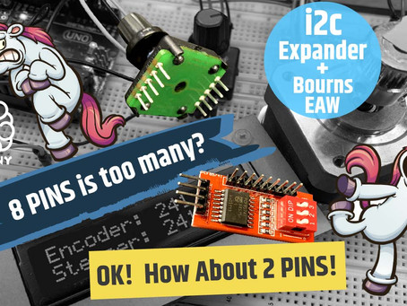8 Pins is too many? How about just 2 pins? Using the Bourns encoder with I2C