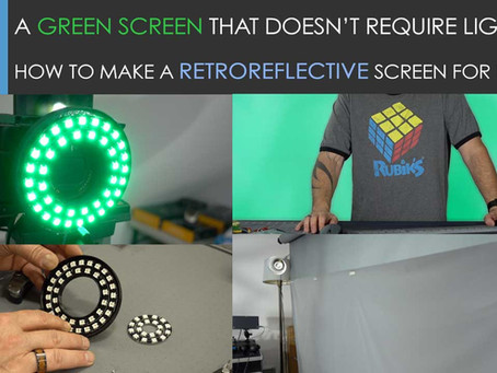 Making a Green Screen that doesn't require any Lighting!