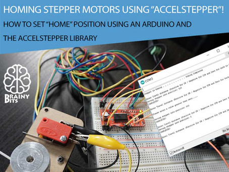 Homing stepper motors using the AccelStepper library!