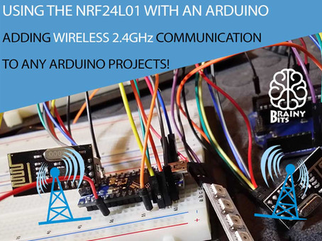 How to use the NRF24L01 2.4GHz wireless module with an Arduino