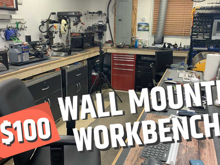 DIY Wall Mounted Workbench under 100$!