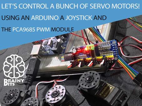 Control a 'LOT' of Servo Motors using a Joystick, Arduino and PCA9685 PWM Module