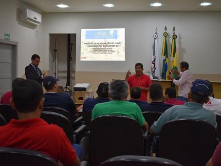 Descarte de resíduo solido é pauta de reunião em Brasileia