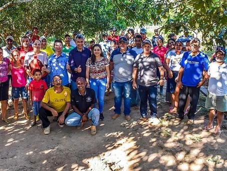 Prefeita Fernanda Hassem e Bira Vasconcelos participam de agenda com moradores do Seringal Tabatinga