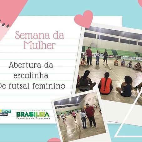 Gerencia de Esportes de Brasiléia realiza aula inaugural de Futsal feminino